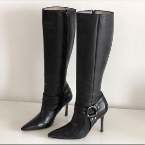 Manolo Blahnik leather harness Stiletto boots